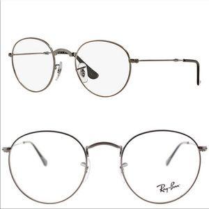 Rayban • Round RB 3447V Gunmetal Silver Eyeglasses